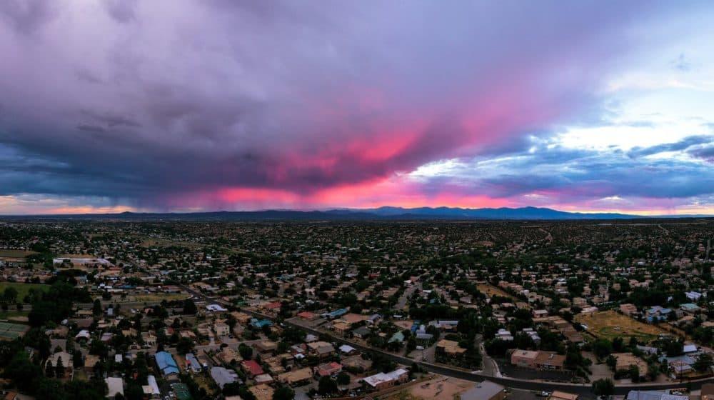 Aerial view of Santa Fe. (Photo courtesy of TOURISM Santa Fe)