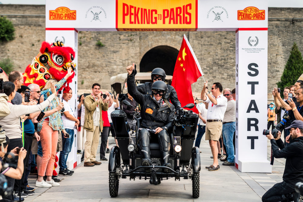 Anton Gonnissen and his co-driver Herman Gelan began their trip at the Great Wall of China near Beijing. (Gerard Brown)