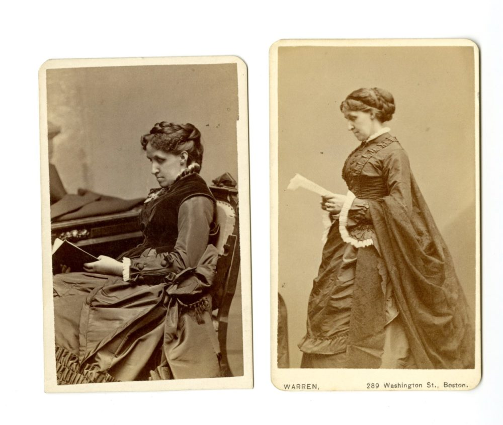 Photos of Louisa May Alcott from the archives of Harvard's Houghton Library. (Courtesy)