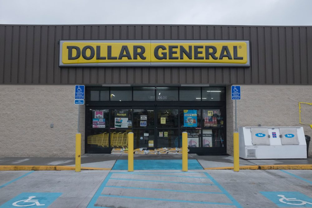 Dollar General continues to thrive due to a loyal customer base and an expansion strategy focused on rural areas. (Seth Herald/AFP via Getty Images)