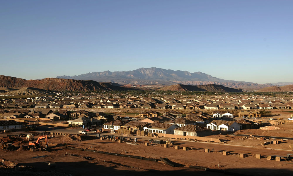 In Utah, lawmakers are considering a plan to help avoid reaching an affordable housing breaking point. (George Frey/Getty Images)