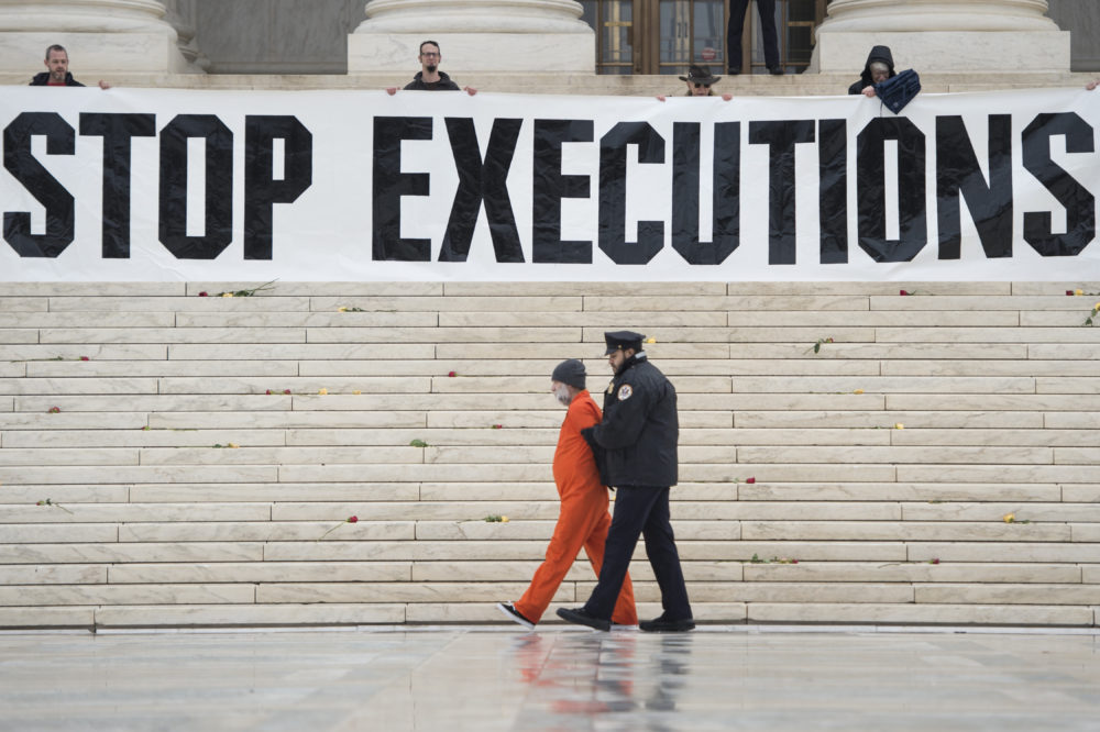 A report released Tuesday highlights a continuing decline in the use of the death penalty. (Brendan Smialowski/AFP via Getty Images)