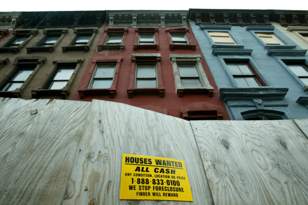 In the Harlem neighborhood of New York City, gentrification has angered many long-time residents, many of who rent their homes and businesses and are being pressured to move out by landlords as rental prices rise.  (Chris Hondros/Getty Images)