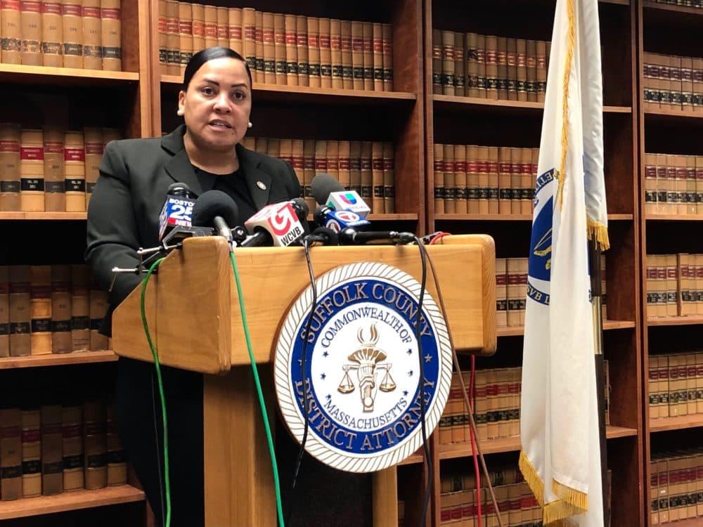 Suffolk County District Attorney Rachael Rollins. (Miriam Wasser/WBUR)