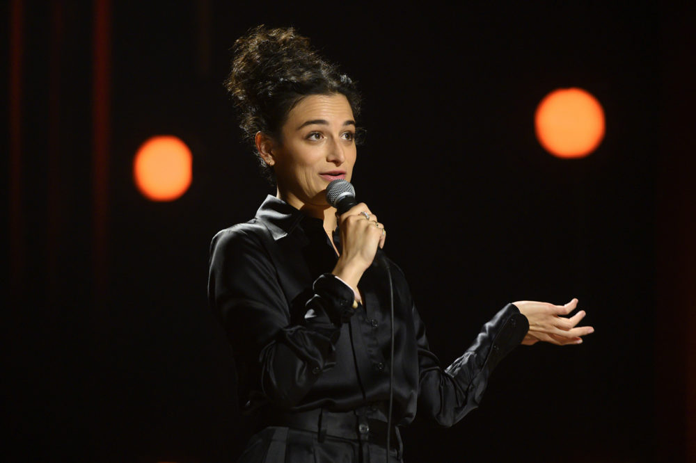 "Jenny Slate in her special ""Stage Fright."" (JoJo Whilden/Netflix)"
