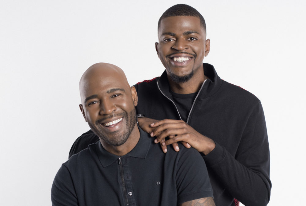 Karamo Brown and his son, Jason Brown. (Raen Badua)