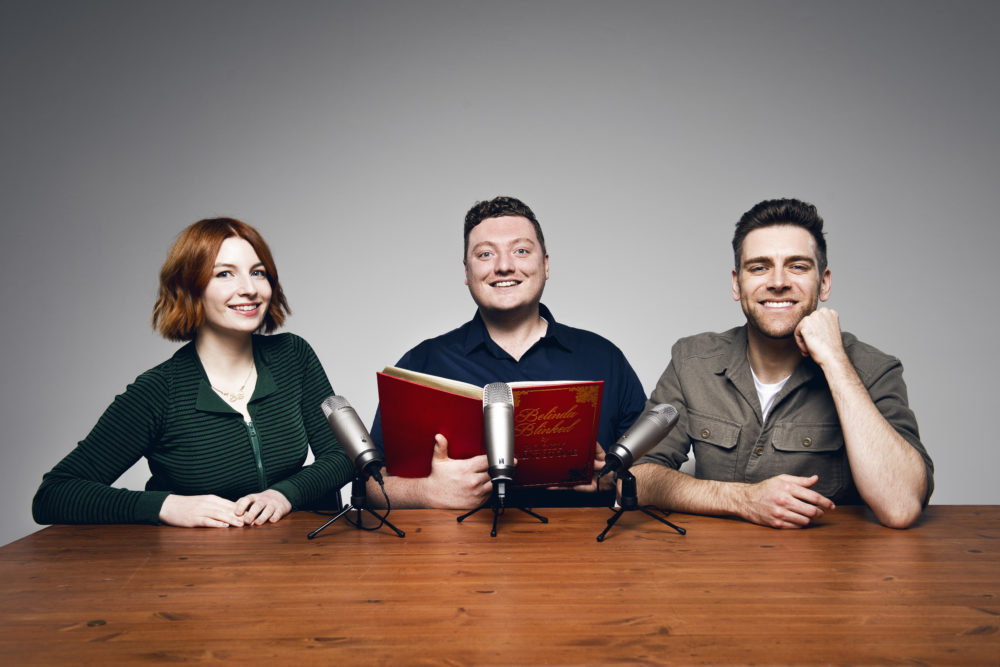 """The co-hosts of British comedy podcast """"My Dad Wrote A Porno."""" (Courtesy of Helen Gleave)"""