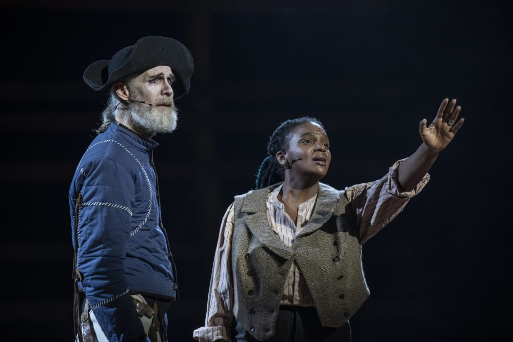 """Tom Nelis and Starr Busby in """"Moby-Dick."""" (Courtesy Maria Baranova)"""