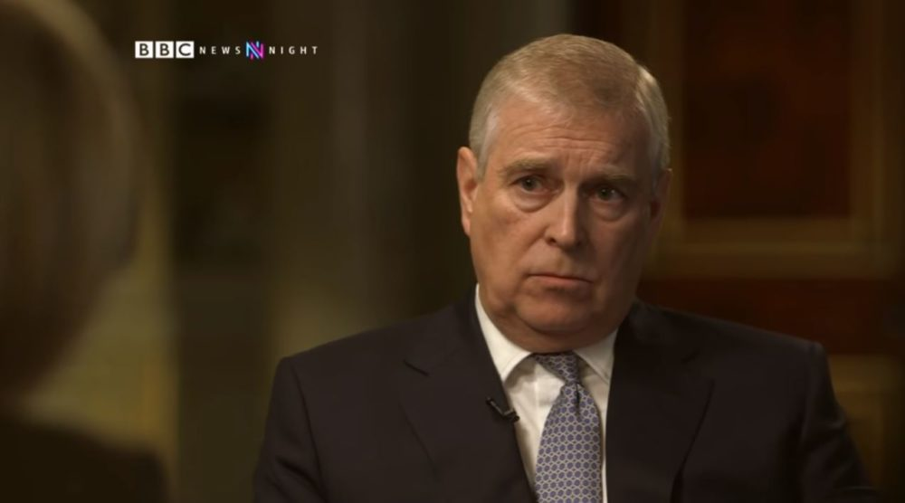 A still of Prince Andrew in the exclusive BBC Newsnight interview with Emily Maitlis. (BBC Newsnight/Youtube)