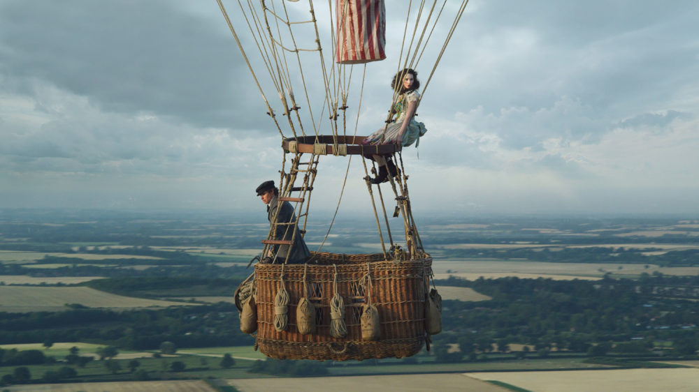 "Eddie Redmayne and Felicity Jones in ""The Aeronauts."" (Courtesy of Amazon Studios)"