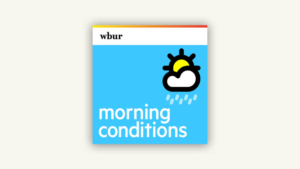 """Morning Conditions"" is a quick-but-comprehensive Boston-area weather forecast from WBUR meteorologist David Epstein. It is available every weekday morning. (Illustration by Jack Mitchell/WBUR)"