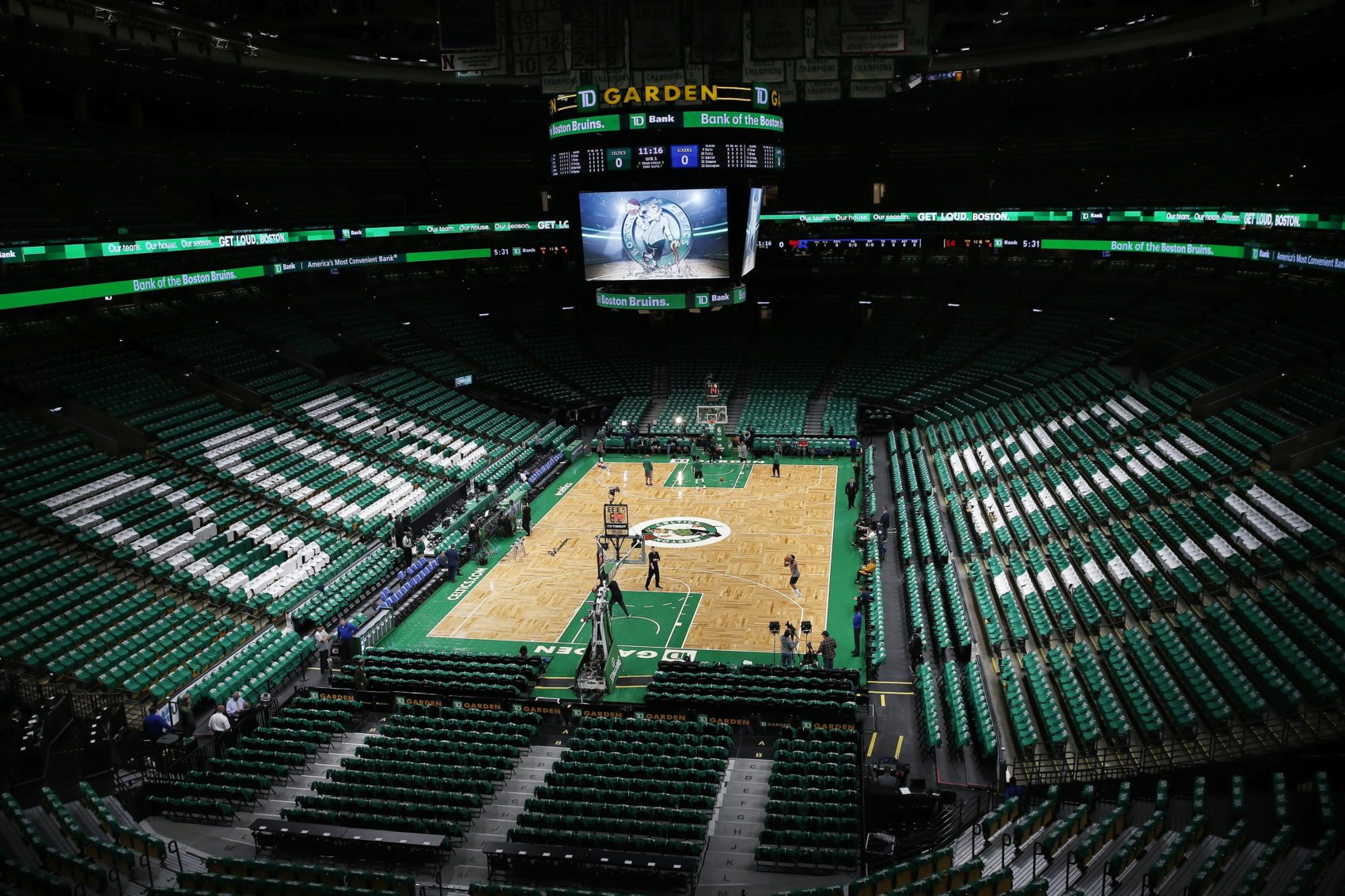 TD Garden is seen before an NBA basketball game. (Michael Dwyer/AP)
