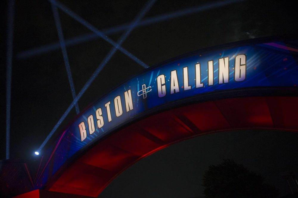 The gate at Boston Calling. (Jesse Costa/WBUR)