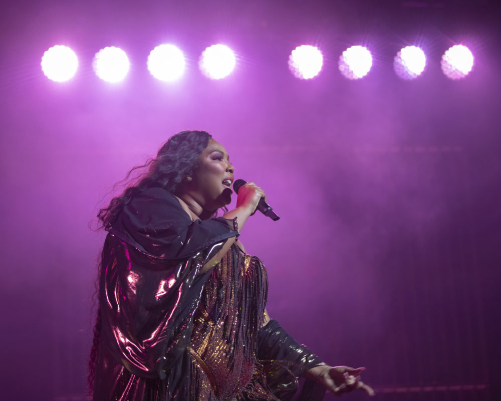 Singer/songwriter Lizzo performs on stage at The Anthem on Wednesday, Sept. 25, 2019, in Washington, D.C. (Brent N. Clarke/Invision/AP)