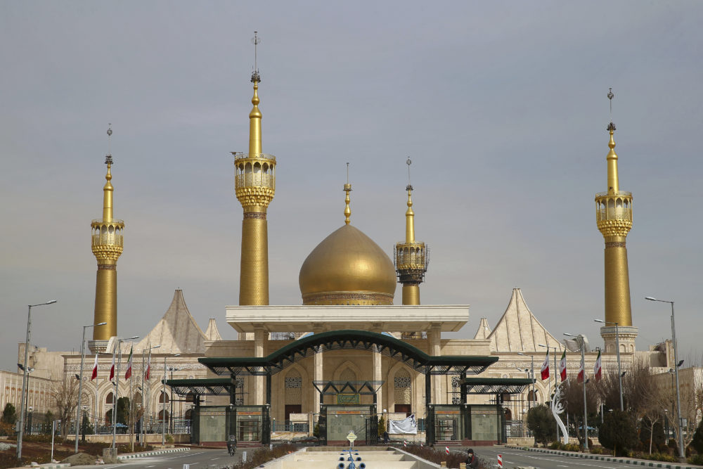 The shrine of Iran's revolutionary founder Ayatollah Khomeini is seen, just outside of Tehran, Iran. (Ebrahim Noroozi/AP)