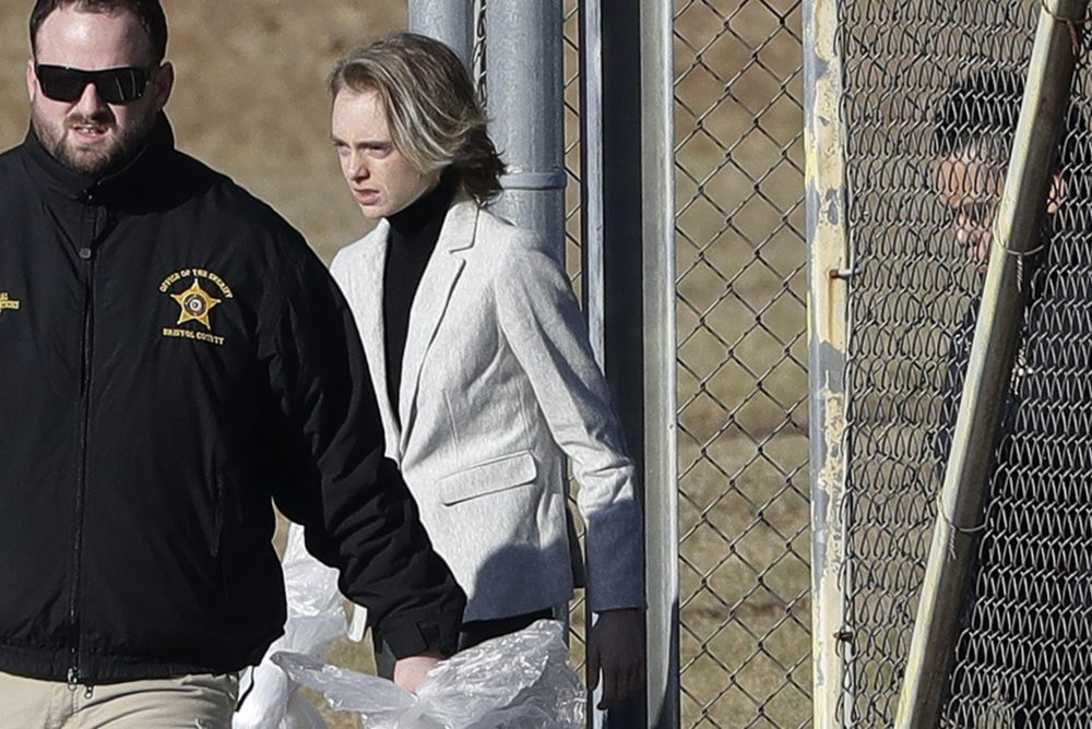 Michelle Carter leaves the Bristol County jail, Thursday in Dartmouth, Mass., after serving most of a 15-month manslaughter sentence for urging her suicidal boyfriend to kill himself in 2014. The 23-year-old, released three months early for good behavior, will serve five years of probation. (Steven Senne/AP)