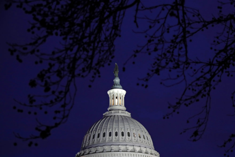 The U.S. Capitol dome is seen in Washington, Jan. 27, 2020, during the impeachment trial of President Donald Trump on charges of abuse of power and obstruction of Congress. (Patrick Semansky/AP)