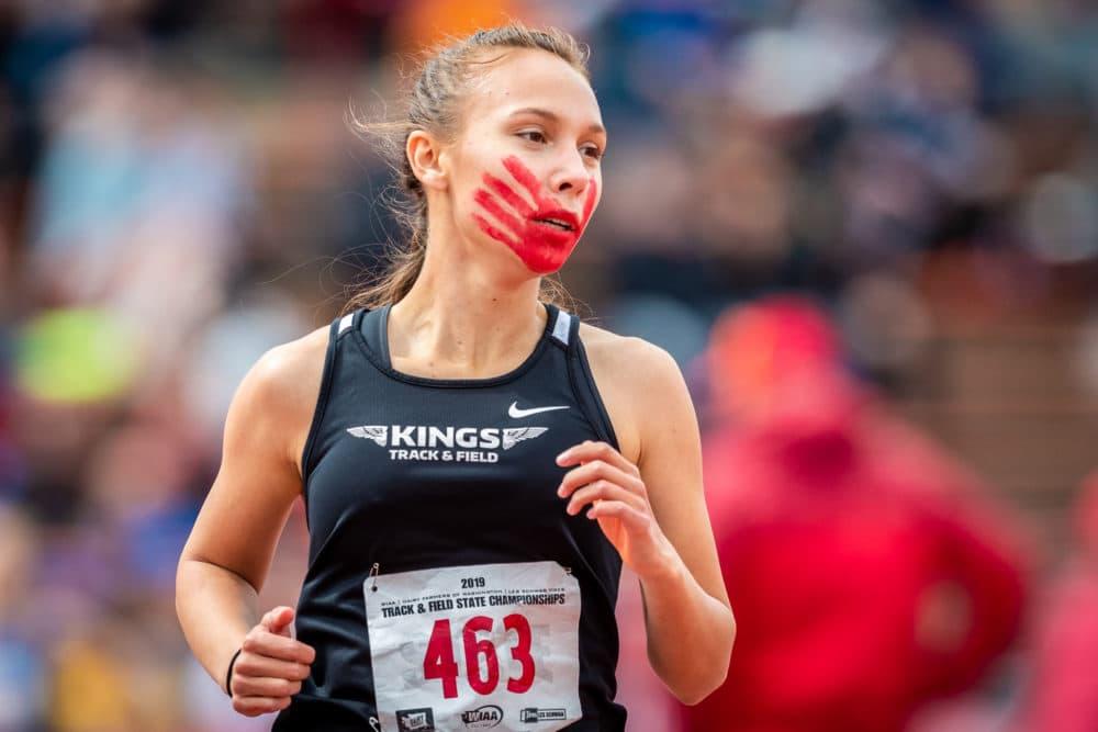 Rosalie was the lone runner on her high school track team. (Alex Flett)