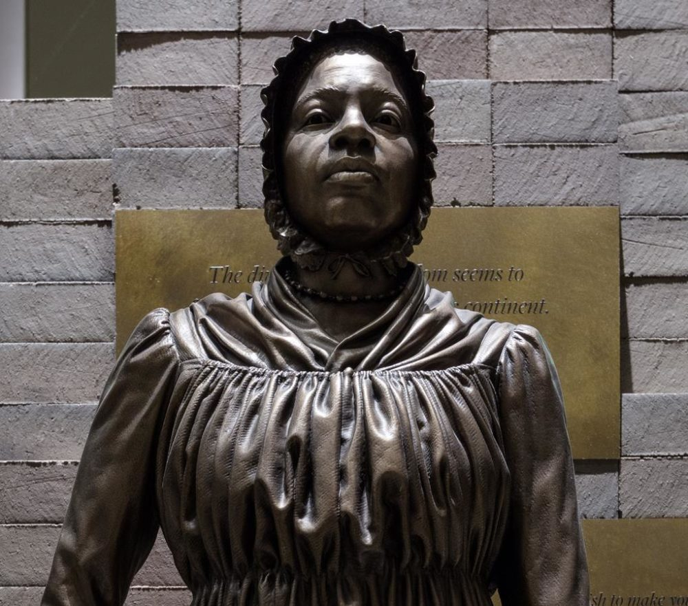 A statue of Elizabeth Freeman on display in the National Museum of African American History and Culture's Slavery and Freedom exhibition. (Courtesy of  the Smithsonian National Museum of African American History and Culture)