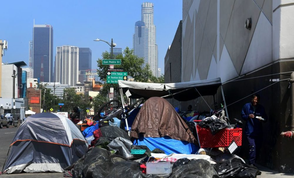 California Gov. Gavin Newsom said his state budget will include more than $1 billion directed toward homelessness (Frederic J. Brown/AFP/Getty Images)