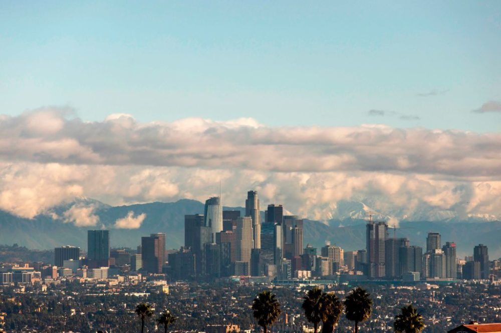 A view of the downtown Los Angeles skyline. (Apu Gomes/AFP/Getty Images)