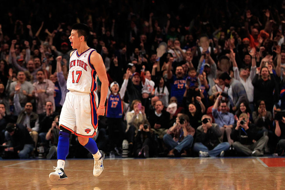 In February 2012, Jeremy Lin became the biggest story in sports. (Chris Trotman/Getty Images)