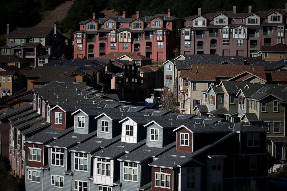 In Oakland, California, homelessness increased nearly 50% over the past two years due, in large part, to rising rents and evictions. (Justin Sullivan/Getty Images)