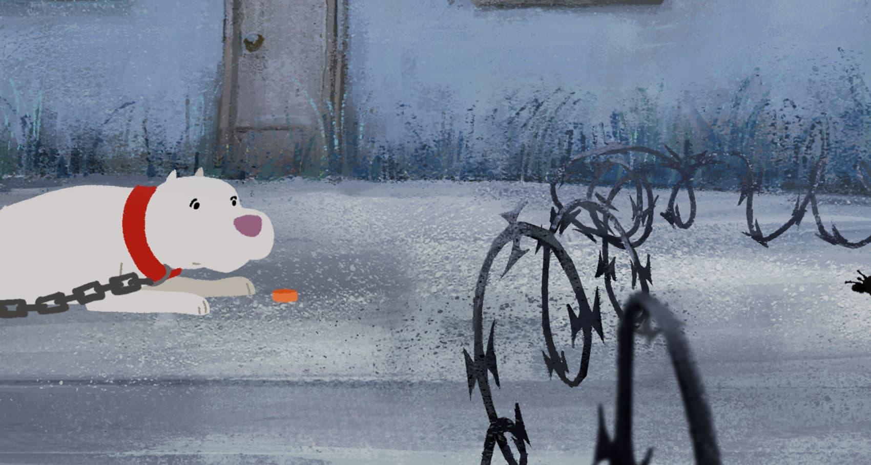 "A still from the Oscar-nominated animated short ""Kitbull."" (Courtesy ShortsTV)"