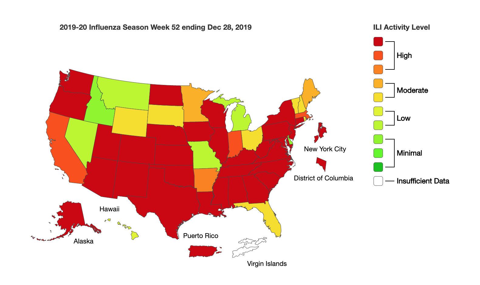 Current Flu Map Us With Mass. Flu Season In Full Swing, Emergency Department Reports