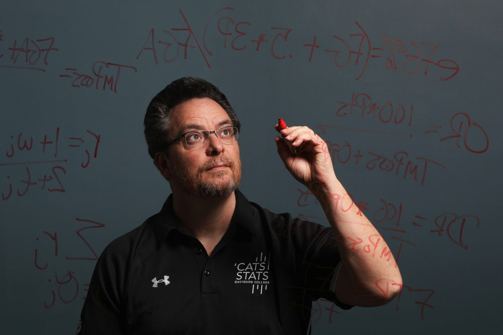 Professor Tim Chartier oversees a student group called Cats Stats which uses advanced analytics to help the college's sports teams. (Courtesy Davidson College)