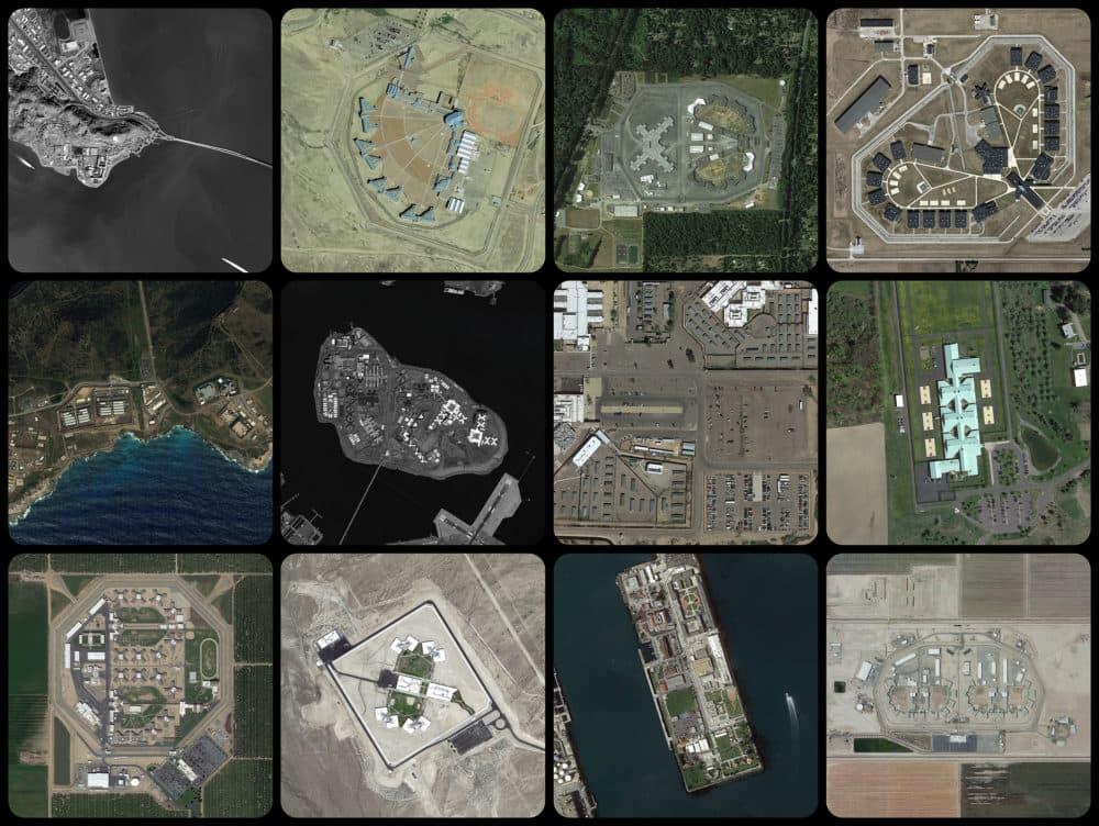 """Josh Begley, """"Prison Map,"""" 2012-present. (Courtesy the artist)"""