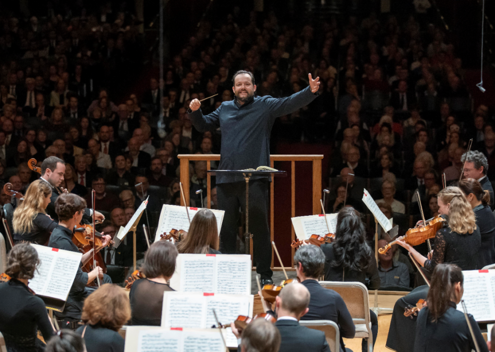 Boston Symphony Orchestra with music director Andris Nelsons. (Courtesy)