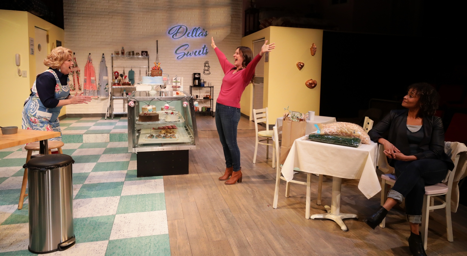 "Karen MacDonald, Chelsea Diehl and Kris Sidberry in ""The Cake."" (Courtesy Mark S. Howard)"
