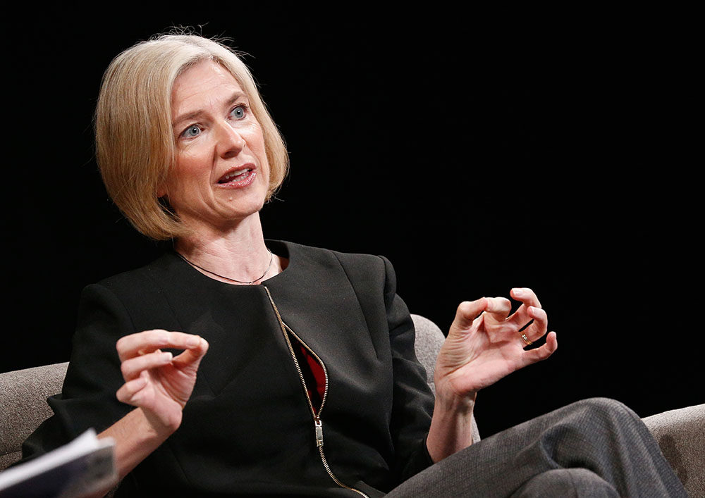 Technology co-inventor of CRISPR-CAS9 Jennifer Doudna speaks onstage at WIRED Business Conference Presented By Visa At Spring Studios In New York City on June 7, 2017 in New York City.  (Brian Ach/Getty Images for Wired)