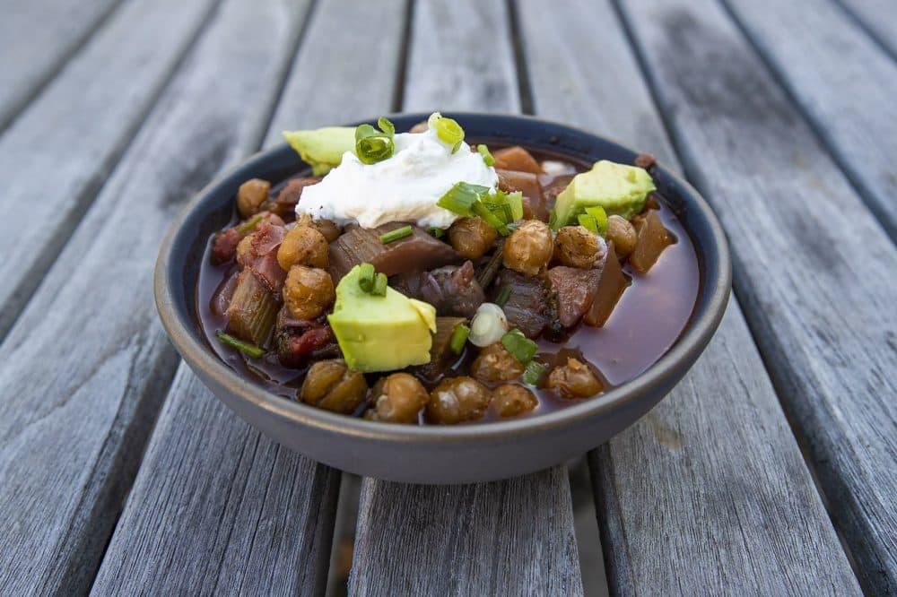 Winter vegetable chile. (Jesse Costa/WBUR)