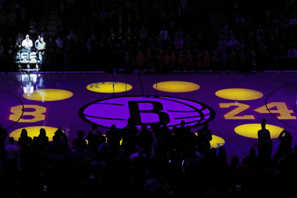The Brooklyn Nets and Detroit Pistons paid tribute to Kobe Byant before a  game on Wednesday, Jan. 29, 2020 in New York. (Kathy Willens/AP)