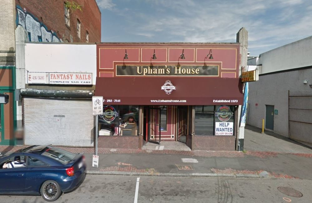 A man was shot and killed in the area of 566 Columbia Road in Dorchester earlier this month. The address belongs Upham's House of Pizza. (Screenshot via Google Maps)