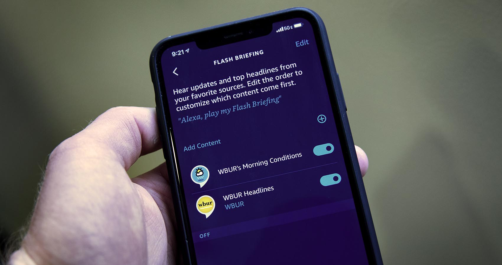 """""""Flash briefings"""" offer a way to build a customized newscast for your Alexa-enabled device. (Robin Lubbock/WBUR)"""
