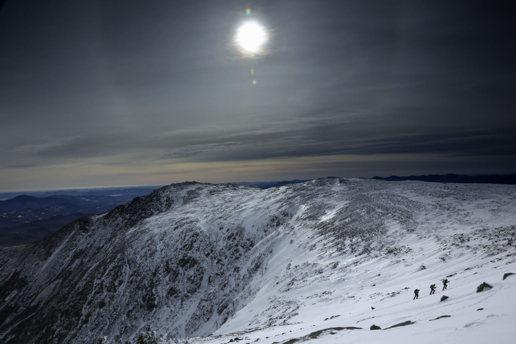 Mount Washington under a midday winter solstice sun on Dec. 21 in New Hampshire. (Robert F. Bukaty/AP)