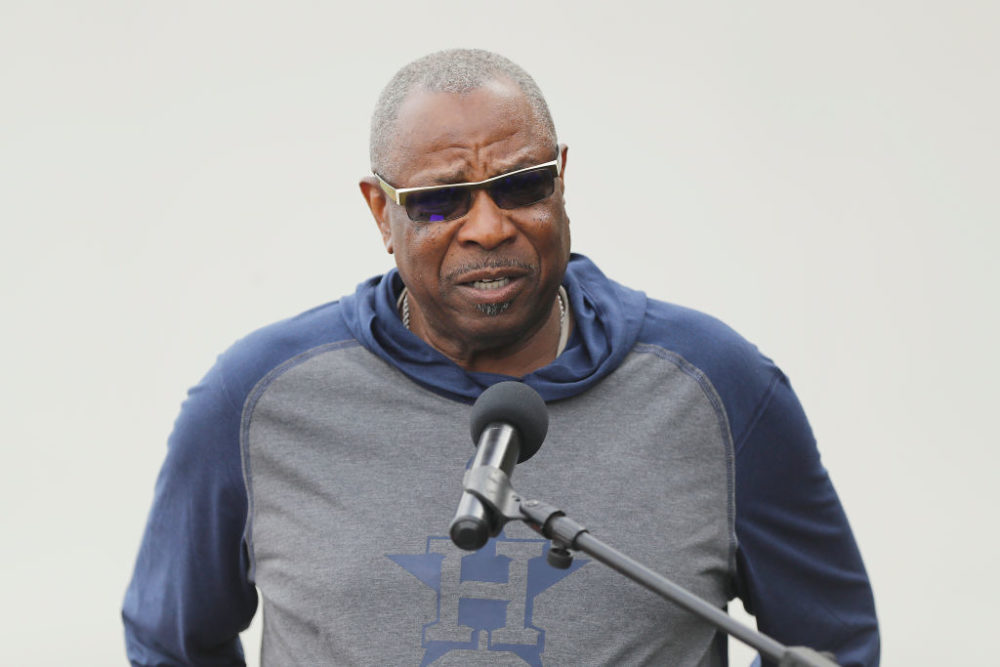 New Houston Astros manager Dusty Baker inherits a talented team ... but one that's also facing controversy. (Michael Reaves/Getty Images)