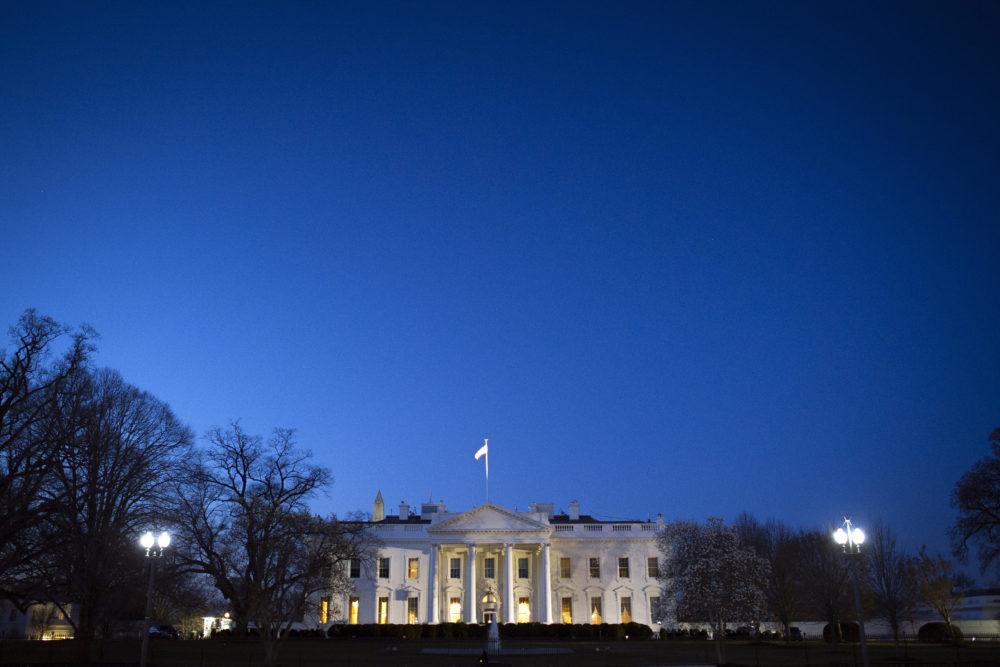 The White House is seen before sunrise, in Washington, Saturday, March 23, 2019.  (Cliff Owen/AP)