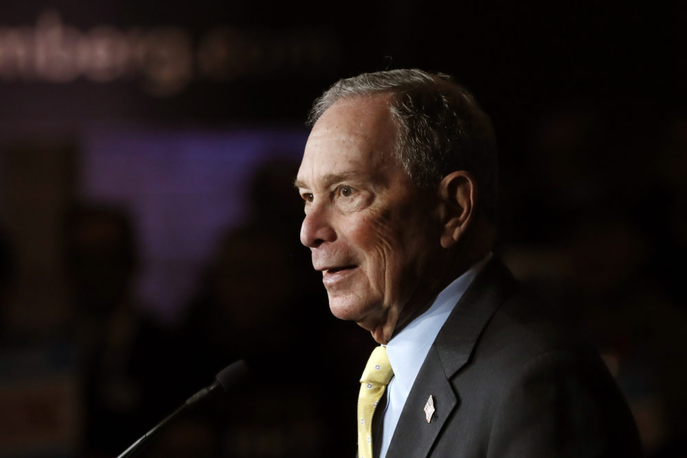 Democratic presidential candidate and former New York City Mayor Michael Bloomberg talks to supporters Tuesday, Feb. 4, 2020 in Detroit. (Carlos Osorio/AP)