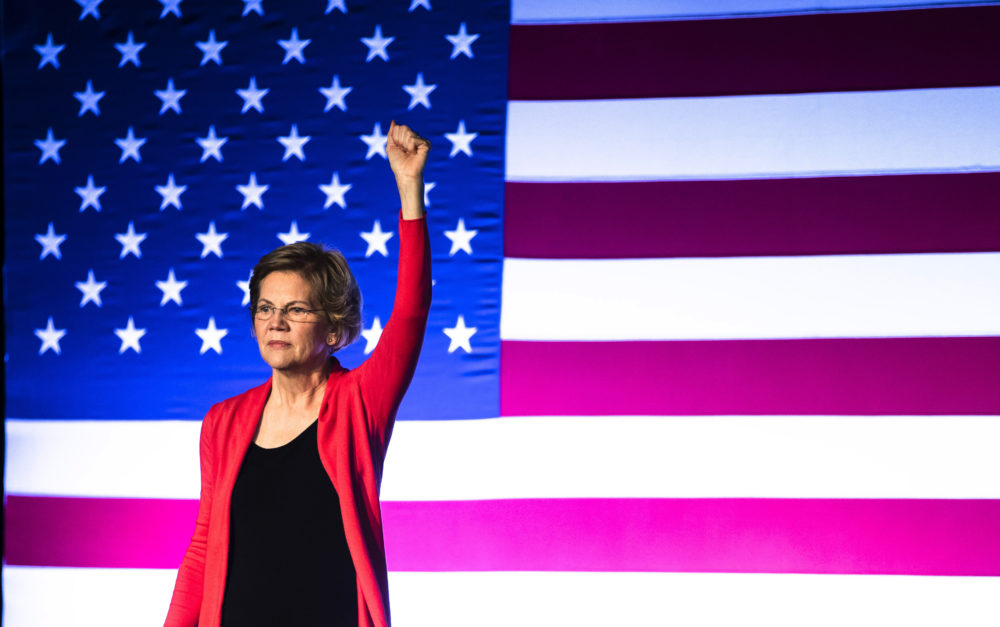 Democratic presidential candidate Sen. Elizabeth Warren, D-Mass., speaks during a campaign event, Thursday, Feb. 6, 2020, in Derry, N.H. (Matt Rourke/AP)
