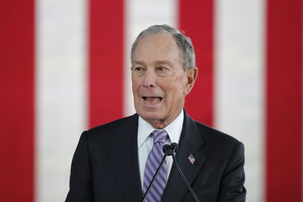 Democratic presidential candidate and former New York City Mayor Mike Bloomberg speaks at a campaign event in Raleigh, N.C., Thursday, Feb. 13, 2020. (Gerald Herbert/AP)