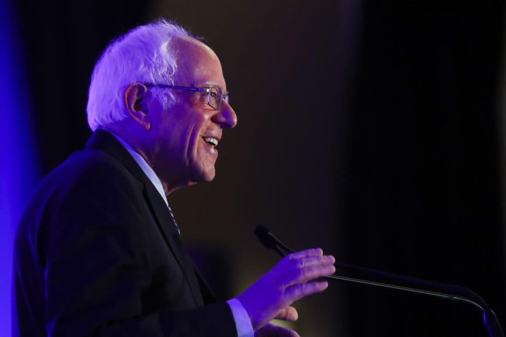 Democratic presidential candidate Sen. Bernie Sanders, I-Vt., speaks during First in the South Dinner, Monday, Feb. 24, 2020, in Charleston, S.C. (Matt Rourke/AP)
