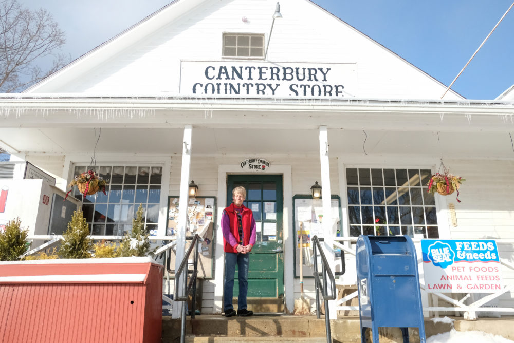 Toni Halla at the Canterbury Country Store. (Jill Ryan/Here & Now)