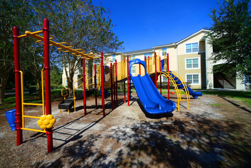 Should playgrounds be a little less safe? That's what some play specialists are advocating. (Gerardo Mora/Getty Images for Lincoln Avenue Capital LLC)