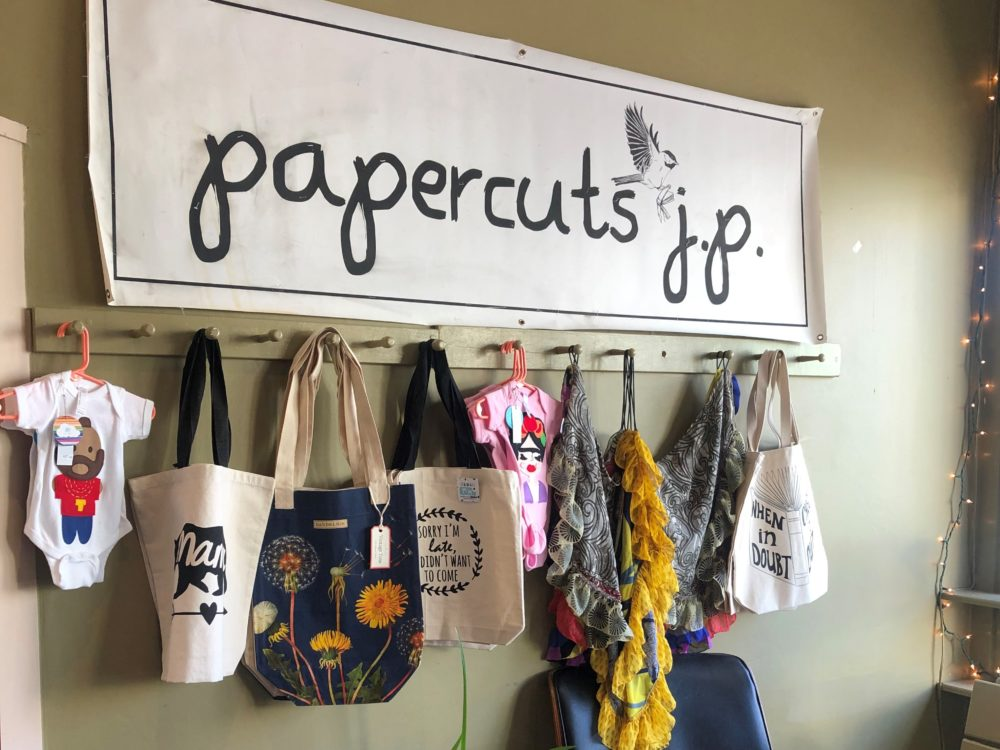 Bookstore Papercuts has moved to a larger location in Jamaica Plain. (Christian Burno/WBUR)