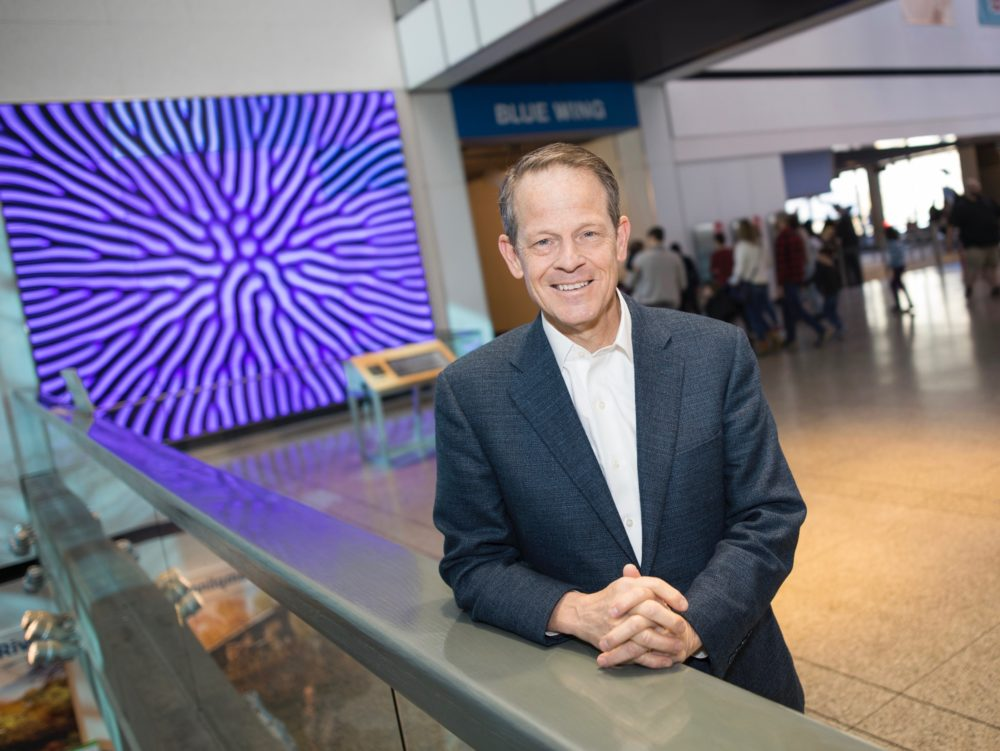 Tim Ritchie, the new President of the Museum Of Science, outside of the museum's Blue Wing. (Courtesy: Nicolaus Czarnecki Photography)