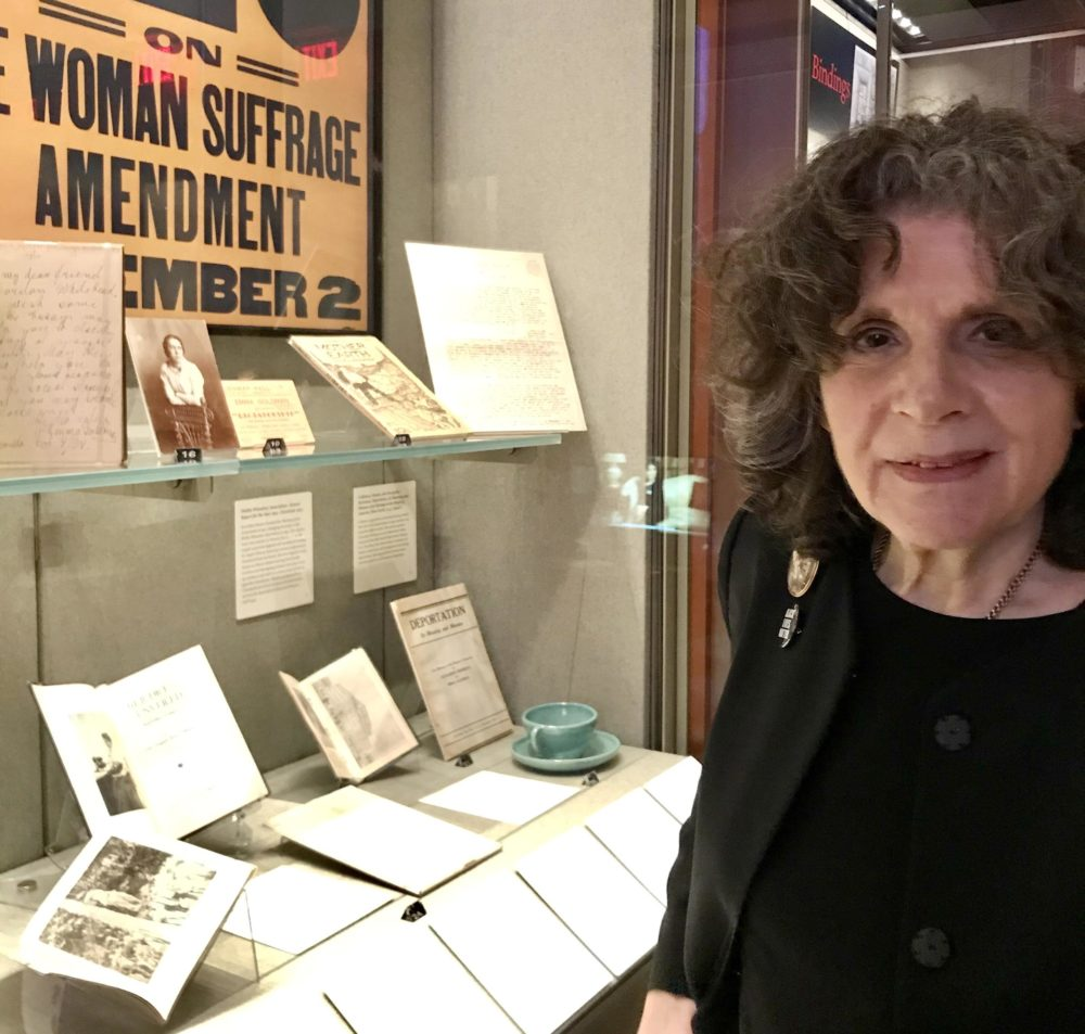 Many items from Lisa Unger Baskin's collection document the history of the women's suffrage movement. (NELL LAKE / NEPR)